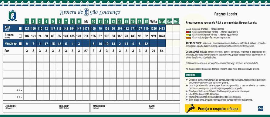 Score-card-golf-club